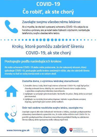 COVID-19 Čo robiť, ak ste chorý